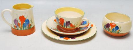 FIVE PIECES OF 1920'S BIZARRE BY CLARICE CLIFF WARE