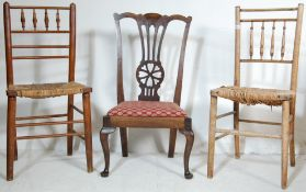 CHIPPENDALE WHEELBACK NURSING CHAIRS AND OTHERS