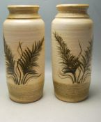 PAIR OF RETRO VINTAGE 197OS WEST GERMAN VASES