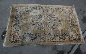 LARGE 20TH CENTURY CHINESE WOOL FLOOR RUG CARPET