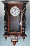 20TH CENTURY WALNUT CASED VIENNA REGULATOR WALL CL
