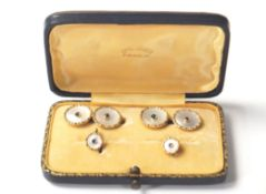 VINTAGE 14CT GOLD AND MOTHER OF PEARL CUFFLINK SET