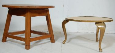 TWO MID CENTURY RETRO COFFEE TABLES / OCCASIONAL T
