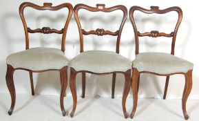 3 VICTORIAN LAMB OF MANCHESTER BALLOON BACK CHAIRS