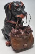 AUSTRIAN STYLE COLDPLAINTED BRONZE DACHSHUND INKWE