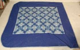 RETRO 20TH CENTURY PATCH WORK BLANKET / WELSH BLAN