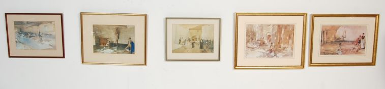 SEVEN WILLIAM RUSSELL FLINT PRINTS