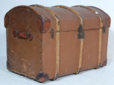 VICTORIAN 19TH CENTURY DOME TOP STEAMER TRUNK CHES