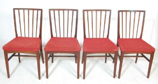 A SET OF FOUR VINTAGE TEAK WOOD GORDON RUSSELL DIN