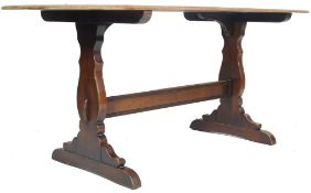 ERCOL OLD COLONIAL OAK REFECTORY DINING TABLE