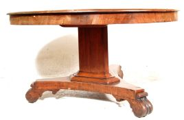 19TH CENTURY GEORGIAN MAHOGANY TILT TOP TABLE