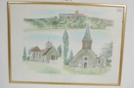 ALBANU WISEMAN LIMITED EDITION LITHOGRAPH OF THREE