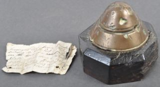 UNIQUE WWI FIRST WORLD WAR GERMAN SHELL TIP WITH PROVENANCE