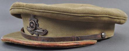 WWI FIRST WORLD WAR ROYAL ARTILLERY OFFICER'S PEAKED CAP