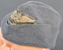 ORIGINAL WWII SECOND WORLD WAR GERMAN LUFTSCHUTZ SIDE CAP