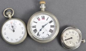 COLLECTION OF X3 WWI & WWII ERA POCKET WATCHES