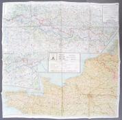 WWII SECOND WORLD WAR SILK ESCAPE MAP - FRANCE, BELGIUM & HOLLAND