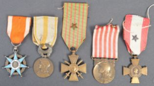 WWI FIRST WORLD WAR (AND PRE-WAR) FRENCH MEDAL GROUP