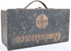 RARE FIRST WORLD WAR LEWIS MACHINE GUN BOX CONVERTED TO FIRST AID TIN
