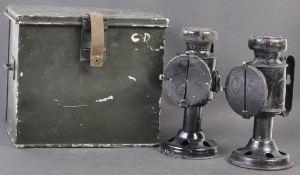 RARE WWII CIVIL DEFENCE BLACKOUT LANTERNS IN ORIGINAL BOX
