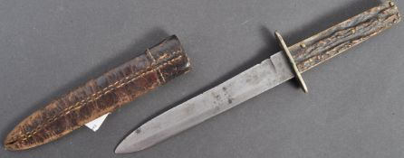WWI FIRST WORLD WAR PERIOD TRENCH / BOOT KNIFE