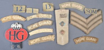 WWII SECOND WORLD WAR HOME GUARD RELATED PATCHES