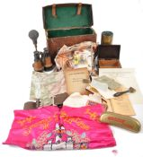 COLLECTION OF ASSORTED WWI & WWII RELATED MILITARY ITEMS