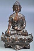 ANTIQUE 19TH CENTURY CHINESE BRONZE BUDDHA