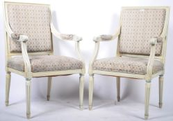 PAIR OF 19TH CENTURY FRENCH SALON SUITE ARMCHAIRS