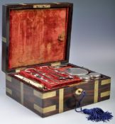 EARLY 19TH CENTURY GEORGIAN ROSEWOOD CAMPAIGN BOX