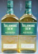 TWO BOTTLES OF TULLAMORE DEW IRISH TRIPLE DISTILLED WHISKEY
