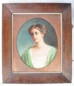 E. PATERSON 1908 - PASTEL STUDY OF A YOUNG LADY