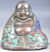 19TH CENTURY CHINESE CLOISONNE LAUGHING FAT BUDDHA