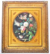 18TH CENTURY STYLE OIL ON CANVAS STILL LIFE PAINTING