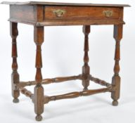 ANTIQUE 17TH CENTURY OAK COUNTRY HOUSE SIDE TABLE