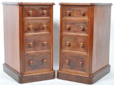 PAIR OF ANTIQUE 19TH CENTURY MAHOGANY BEDSIDE CHESTS