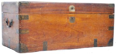 19TH CENTURY CAMPHOR CHEST WITH LONDON - SINGAPORE NOTATION