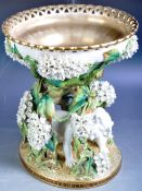 LARGE AND IMPRESSIVE MOORE BROS PORCELAIN TABLE CENTERPIECE