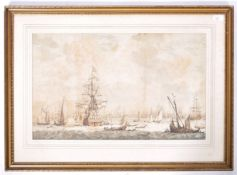AFTER WVD VELDE 18TH CENTURY ENGRAVING OF NAUTICAL INTEREST