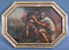 18TH CENTURY ITALIAN OIL OF ORPHEUS & EURYDICE FLEEING HADES