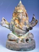 18TH / 19TH CENTURY INDIAN BRONZE OF GANESHA