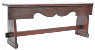 18TH CENTURY GEORGIAN COUNTRY OAK BENCH OF GOOD PROPORTIONS