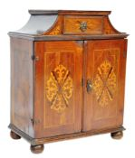 FINE QUALITY 17TH CENTURY DUTCH MARQUETRY INLAY WALNUT TABLE CABINET
