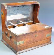 ANTIQUE 19TH CENTURY OAK DECANTER BOX TEA CADDY COMPENDIUM