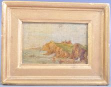 19TH CENTURY VICTORIAN MINIATURE OIL PAINTING