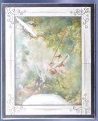 AFTER JH FRAGONARD - THESWING - IVORY PANEL PAINTING