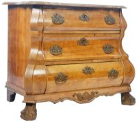 19TH CENTURY ANTIQUE WALNUT COMMODE CHEST OF DRAWERS