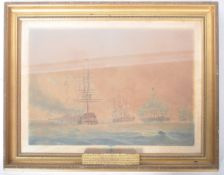 AFTER NICHOLAS POCOCK - FRENCH FLEET - VICTORIAN ENGRAVING