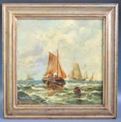 19TH CENTURY GERMAN OIL ON BOARD PAINTING BY FRANZ HOEPFNER