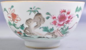 ANTIQUE 18TH CENTURY CHINESE WUCAI DECORATED BOWL